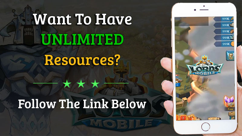 unlimited lords mobile resources