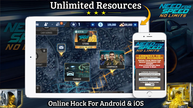 Need For Speed No Limits Hack 2019 - Online Cheat Tool