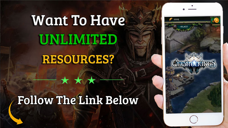 clash of kings unlimited resources
