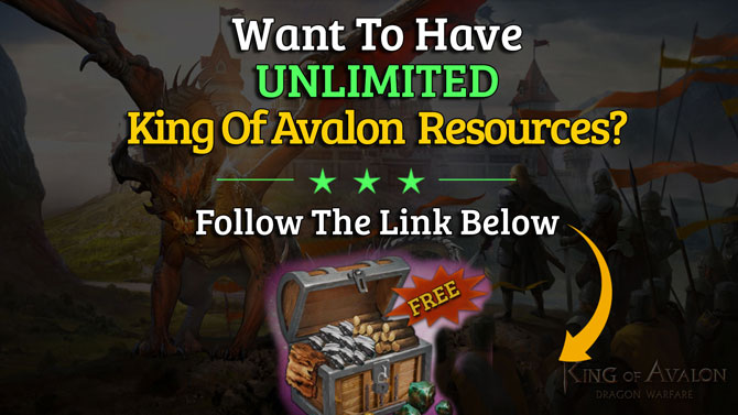 king of avalon cheat unlimited resources