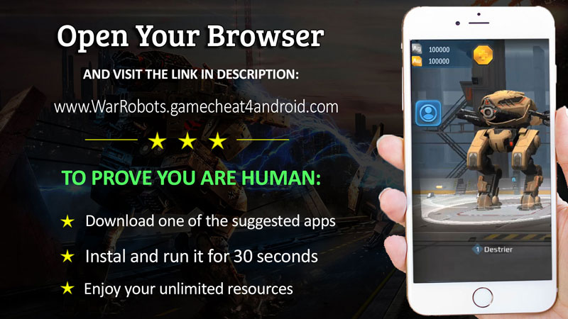 war robots online hack unlimited resources