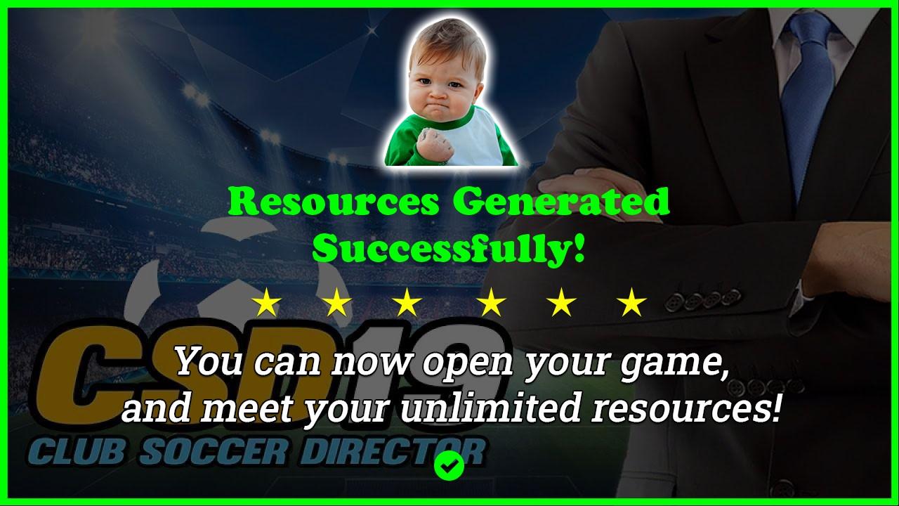 Club Soccer Director 2019 hack tool 2020