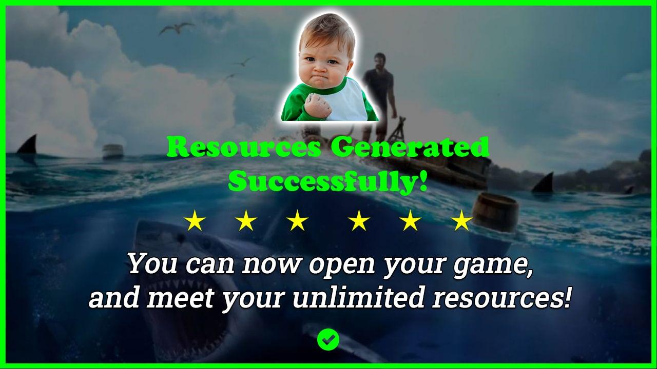 Ocean Nomad Raft Survival hack tool 2020